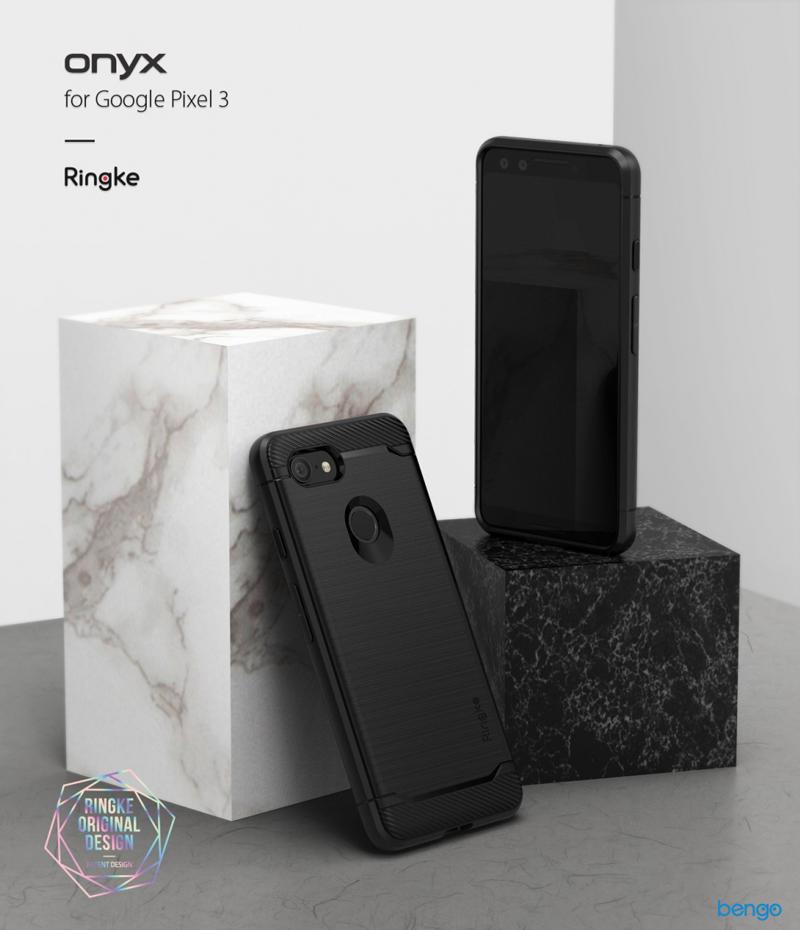Ốp lưng Google Pixel 3 Ringke Onyx