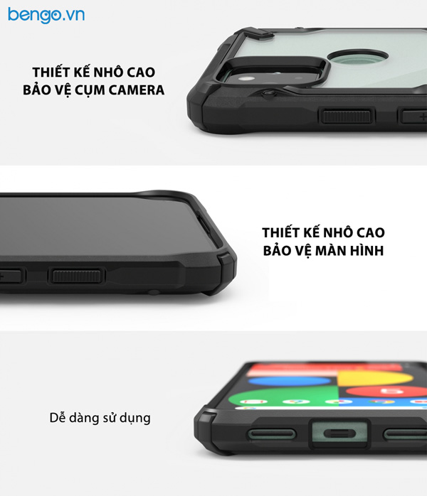 Ốp lưng Google Pixel 5 RINGKE Fusion X