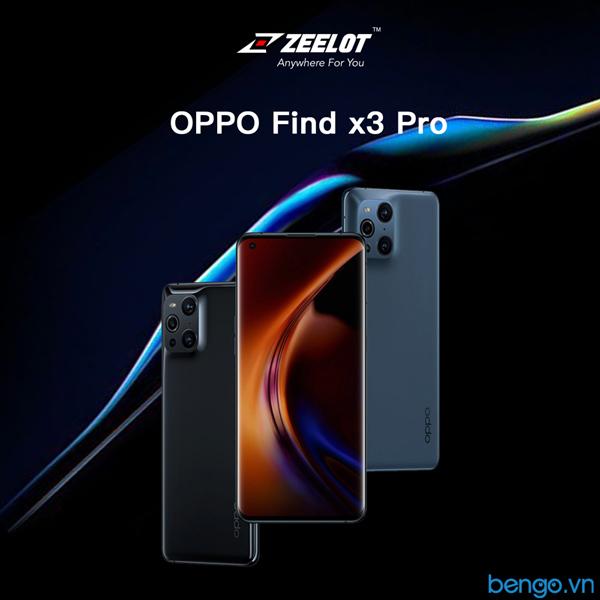 Dán Cường Lực OPPO Find X3 Pro/Find X3 Loca UV Zeelot PureGlass 3D Clear
