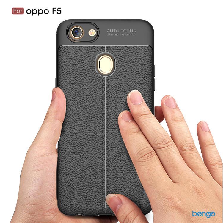 Ốp lưng OPPO F5 họa tiết giả da