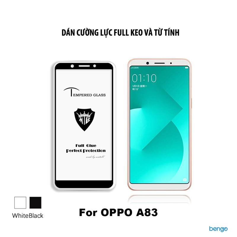 Dán cường lực OPPO A83 3D full keo và từ tính