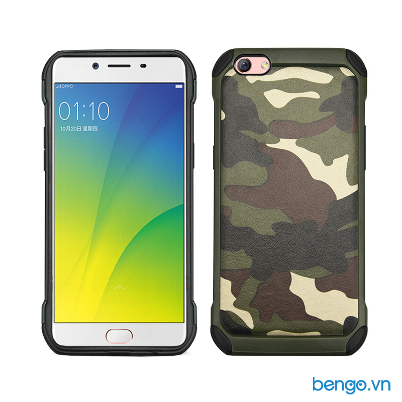 ốp lưng oppo f3 plus nx case hoa tiết army chống sốc