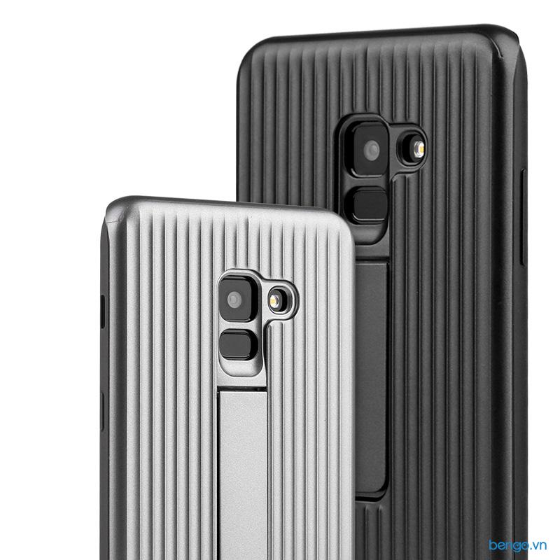 Ốp lưng Samsung Galaxy A8+ (2018) 2 lớp có chån dựng