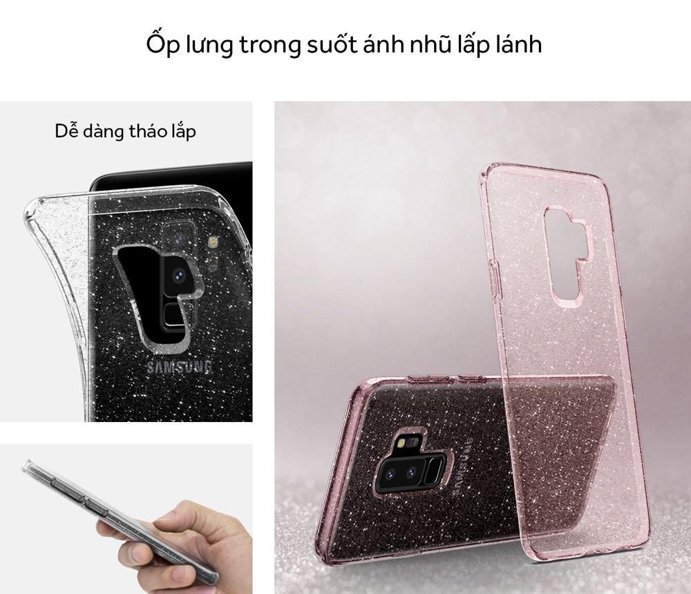 Samsung S9 Plus Case Spigen Liquid Crystal Glitter