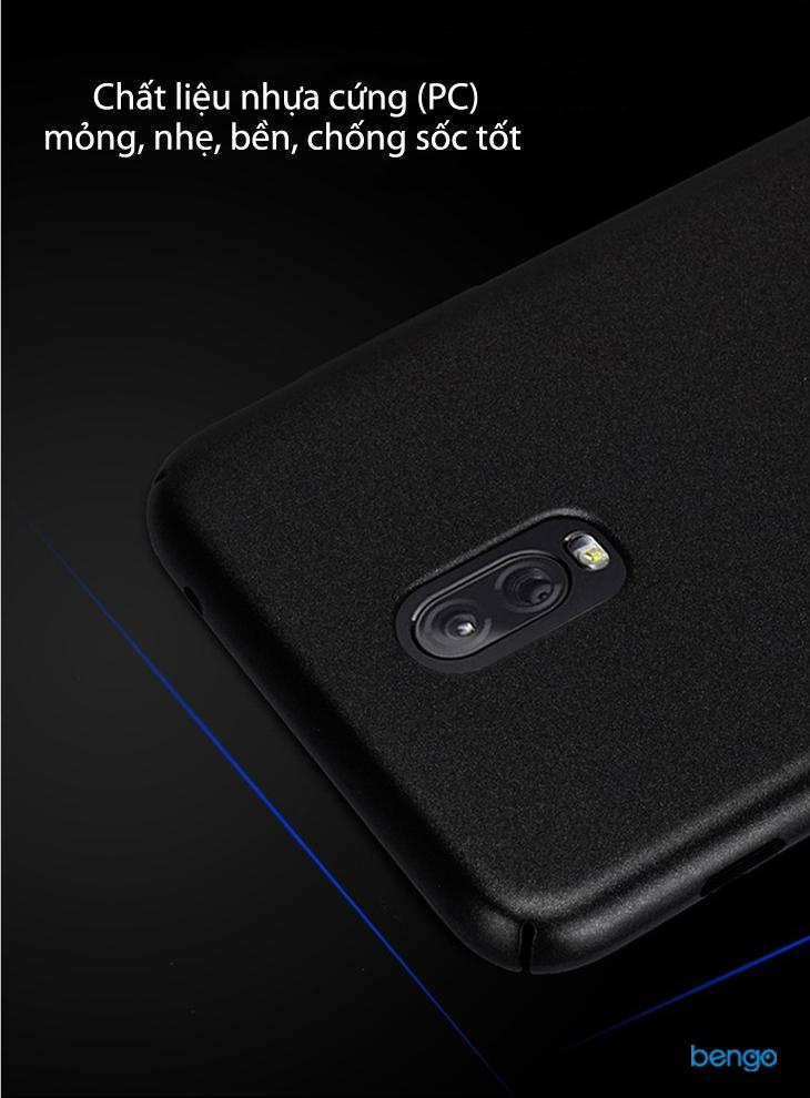 Ốp lưng Samsung Galaxy J7+ LENUO nhựa cứng siêu mỏng