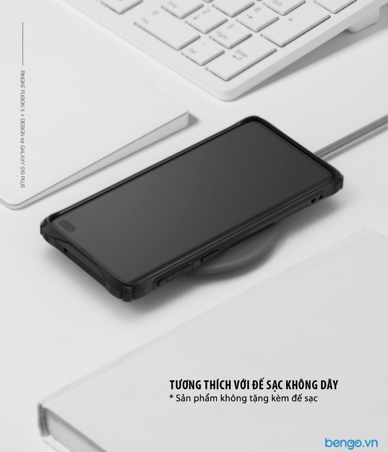 Ốp lưng Samsung Galaxy S10 Plus RINGKE Fusion X Design