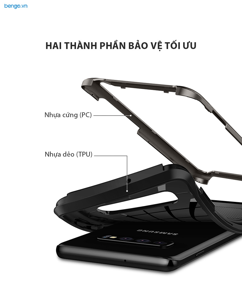 Ốp lưng Samsung Galaxy S10 Plus SPIGEN Hybrid NX