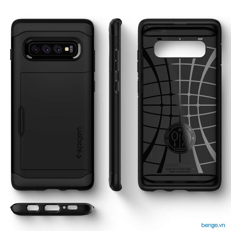 Ốp lưng Samsung Galaxy S10 Plus SPIGEN Slim Armor CS