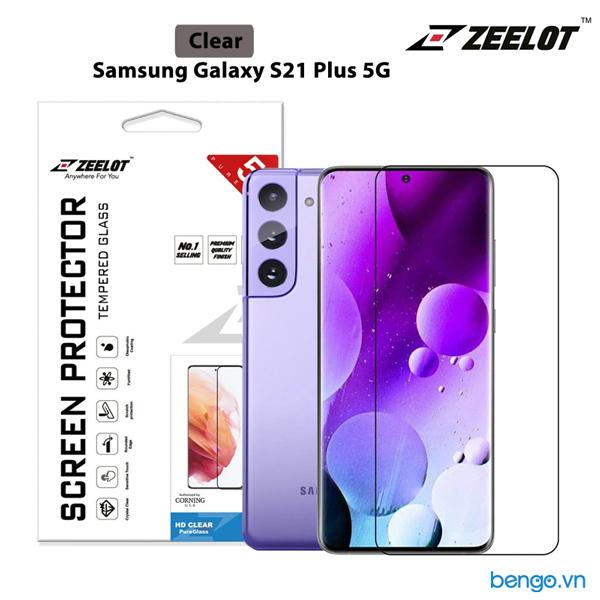 Dán cường lực Samsung Galaxy S21 Plus 5G Zeelot PureGlass 2.5D Full keo