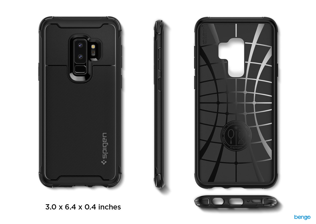 Ốp lưng Samsung Galaxy S9 Plus SPIGEN Rugged Armor Urban - Black