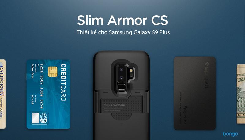 Ốp lưng Samsung Galaxy S9 Plus SPIGEN Slim Armor CS