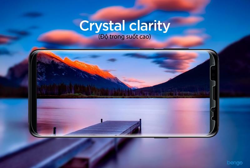 Dán màn hình Samsung Galaxy S9 SPIGEN Curved Crystal HD