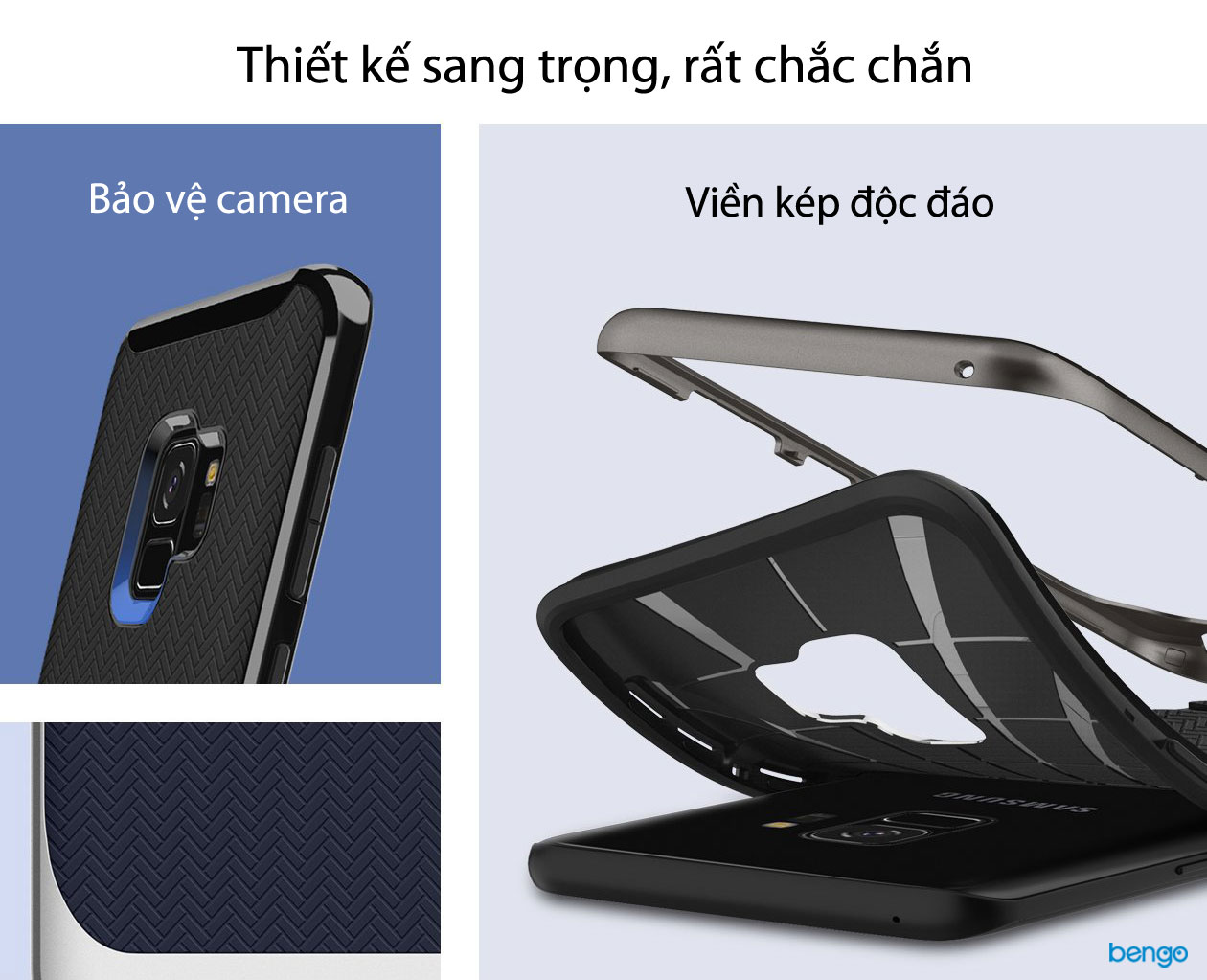 Ốp lưng Samsung Galaxy S9 SPIGEN Neo Hybrid™ - Burgundy