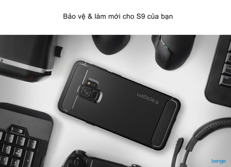 Ốp lưng Samsung Galaxy S9 SPIGEN Rugged Armor