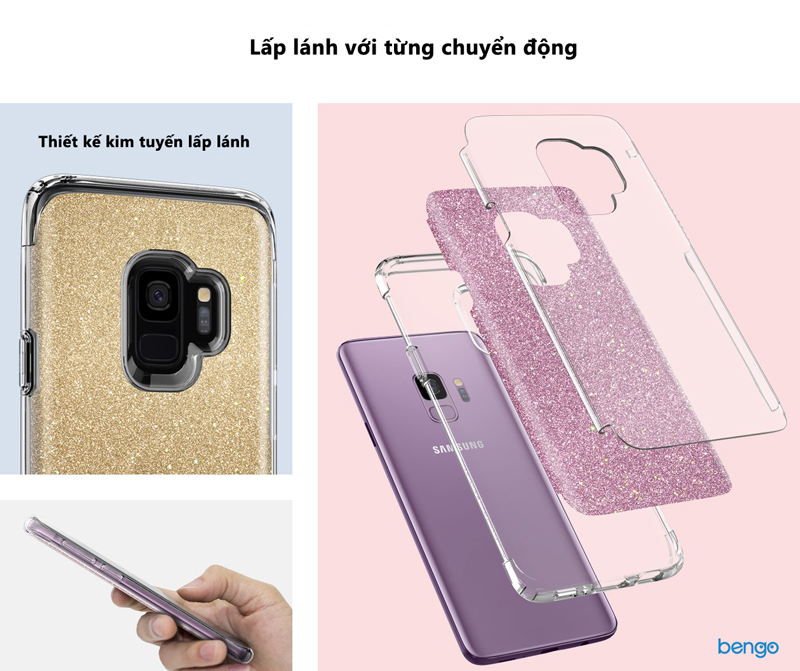 buy online e95da 75127 Samsung Galaxy S9 Spigen Slim Armor Crystal Glitter