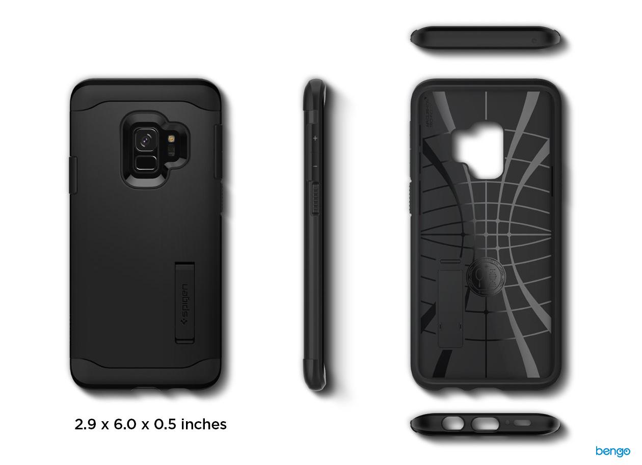 Ốp lưng Samsung Galaxy S9 SPIGEN Slim Armor - Black