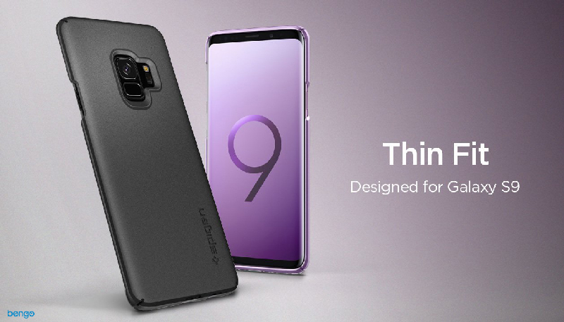 Ốp lưng Samsung Galaxy S9 SPIGEN Thin Fit - Black