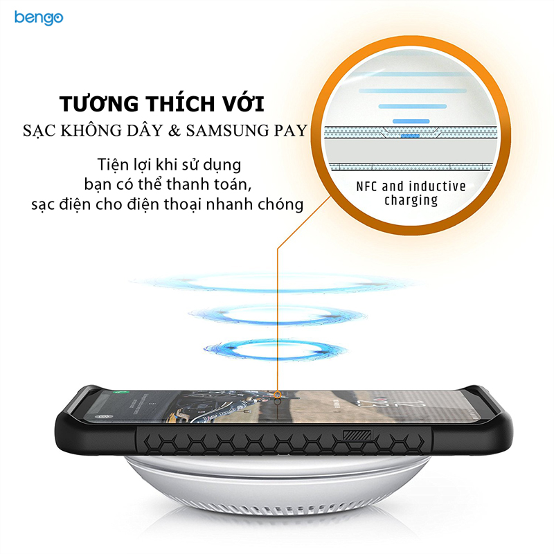 Ốp lưng Samsung Galaxy S9 UAG Monarch Series - Black