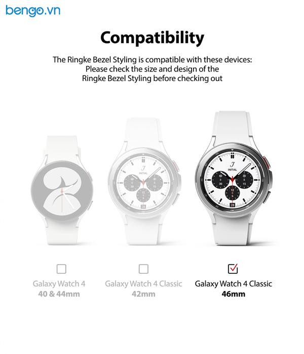 Viền Ringke Bezel Styling cho Samsung Galaxy Watch 4 Classic 46mm