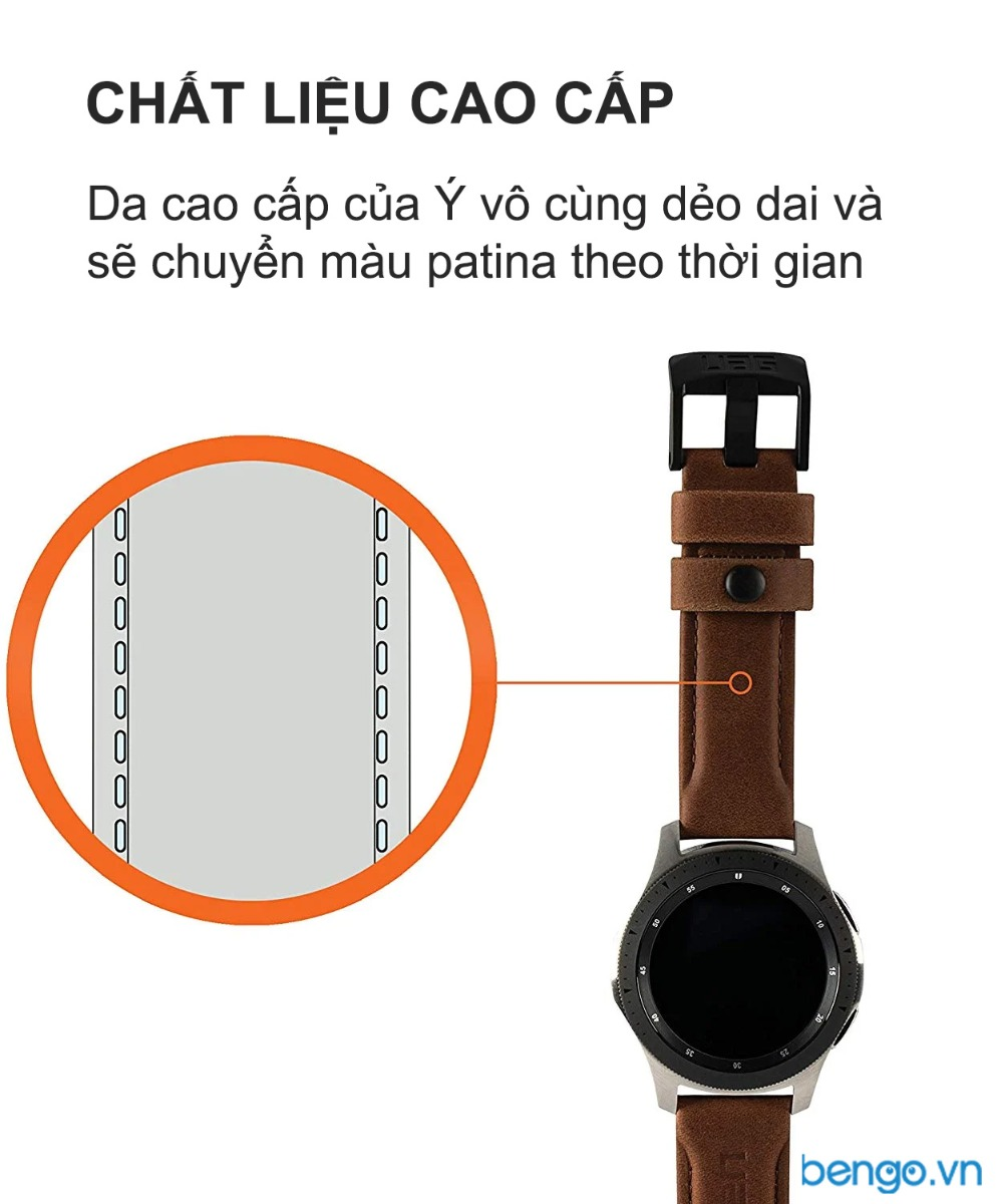 Dây đeo Samsung Galaxy Watch 46mm UAG Leather Series