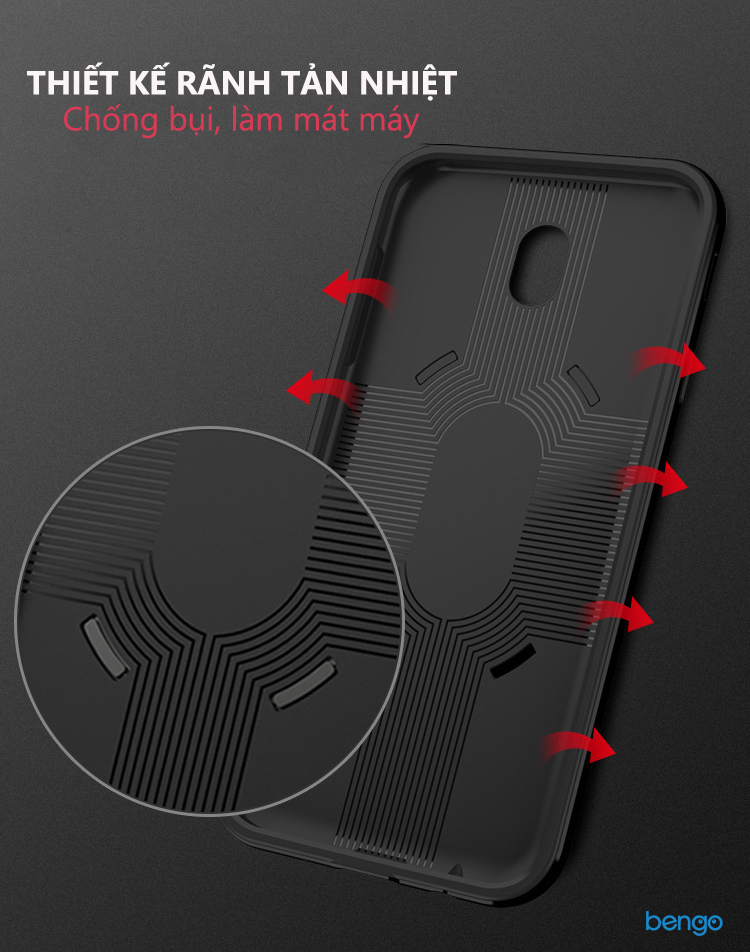 Ốp lưng Samsung Galaxy J7 Pro IPAKY Iring Holder 360 Car