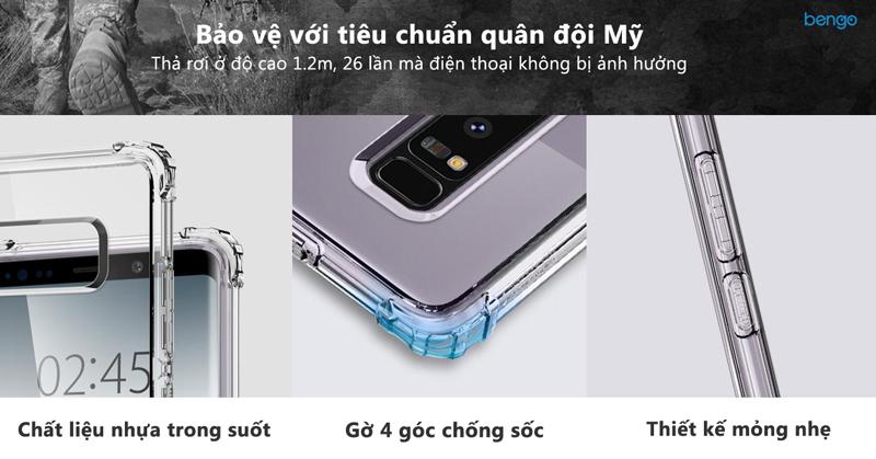 Ốp lưng Samsung Galaxy Note 8 SPIGEN Crystal Shell