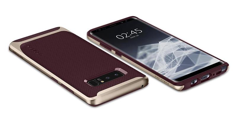 op lung Samsung Note 8 Spigen neo hybrid