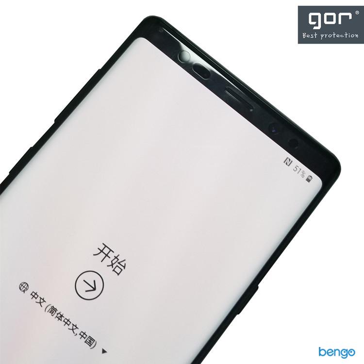 Dán màn hình Samsung Galaxy Note 9 3D full GOR (Hộp 2 miếng)