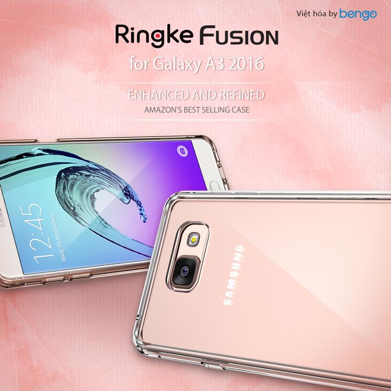 Ốp lưng Samsung Galaxy A3 (2016) Ringke Fusion