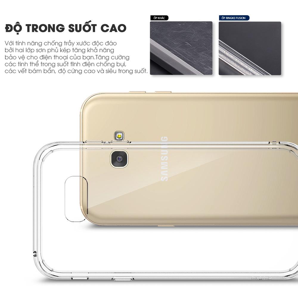 Ốp lưng Samsung Galaxy A7 2017 Ringke Fusion