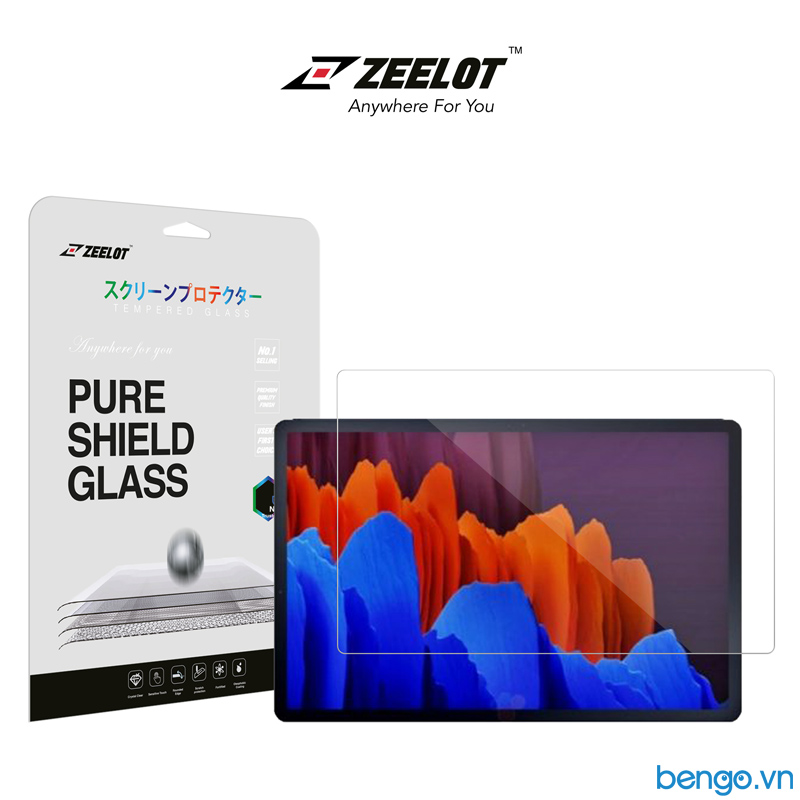 Dán cường lực Samsung Galaxy Tab S7 ZEELOT PureShield 2.5D Clear