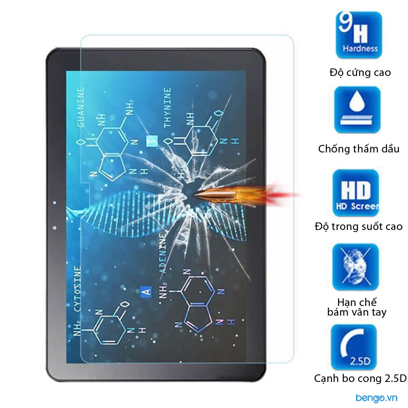 Dán màn hình cường lực Samsung Galaxy Tab Advanced2 - SM-T583 9H