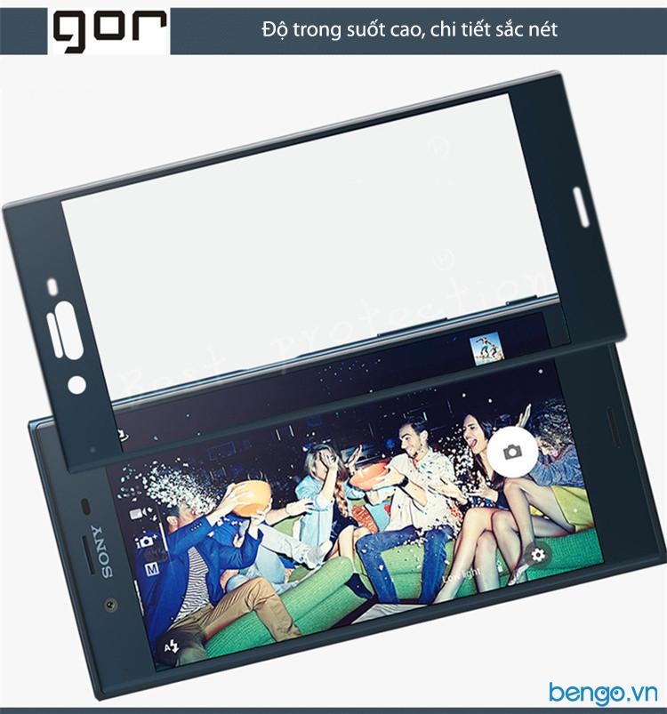Dán màn hình cường lực Sony Xperia XZ Premium 3D GOR Full màn hình
