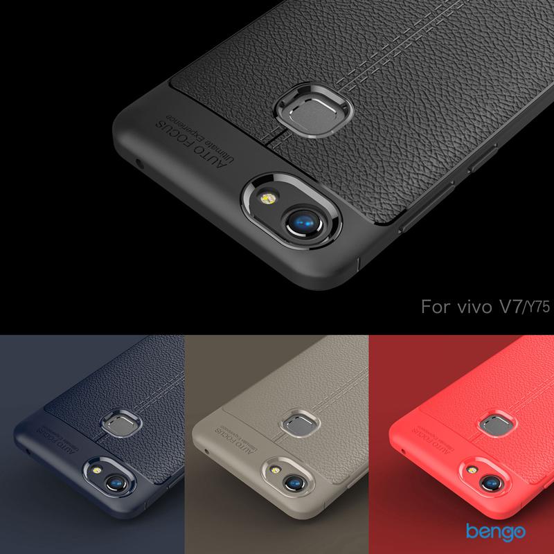 Ốp lưng Vivo V7 họa tiết giả da