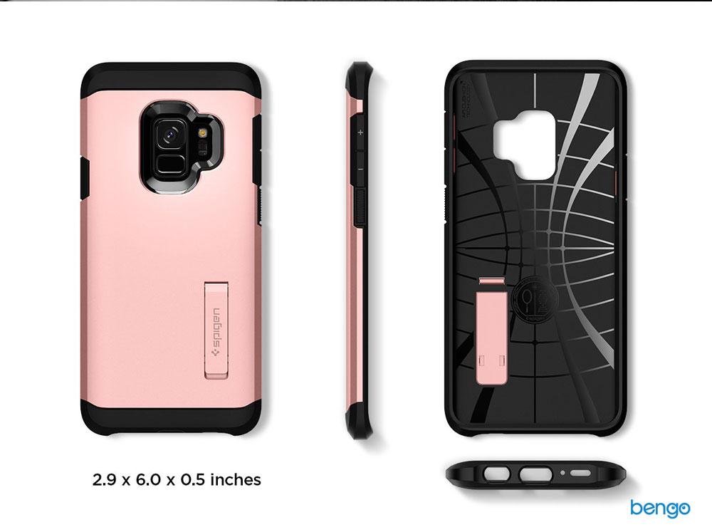 Ốp lưng Samsung Galaxy S9 SPIGEN Tough Armor - Black