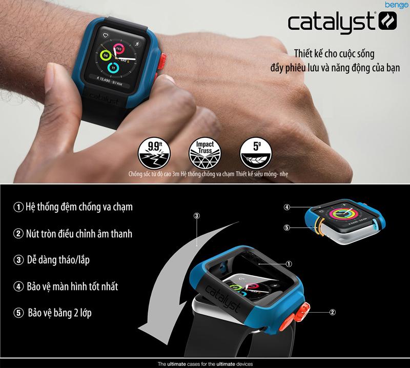 Vỏ ốp bảo vệ Apple Watch Series 3 & 2 42mm Catalyst Impact
