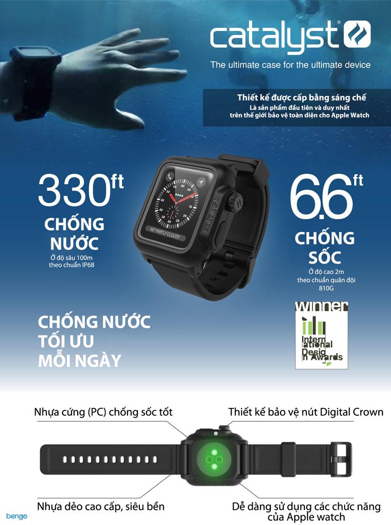 Ốp Apple Watch Series 3 42mm Serise 3 Catalyst Waterproof