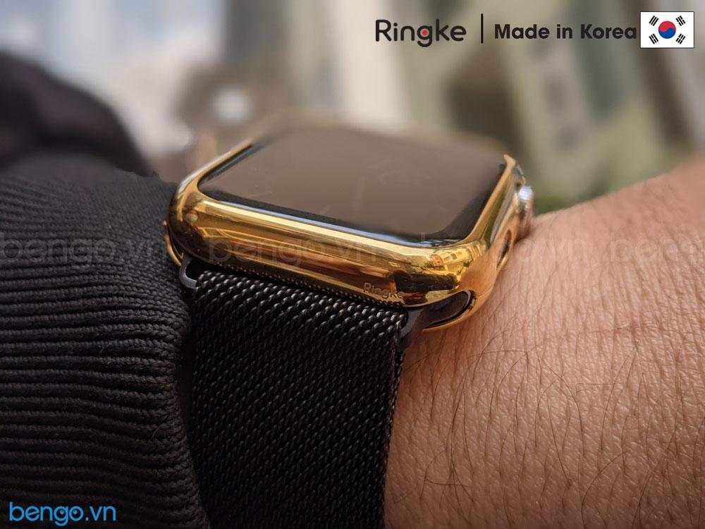 Ốp Apple Watch 6/SE/5/4 44mm RINGKE Full Frame Stylings Stainless