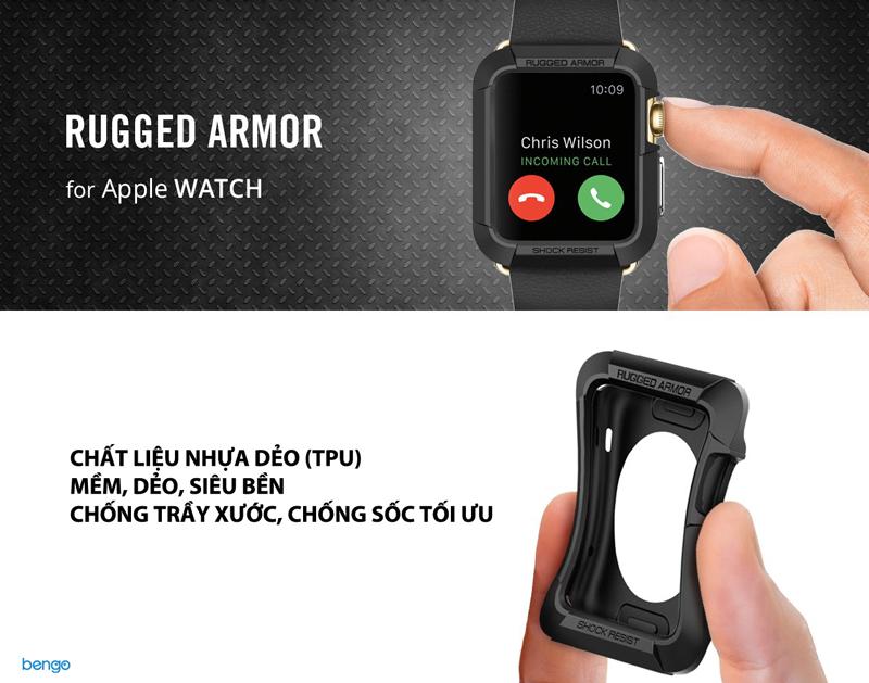 Vỏ ốp bảo vệ Apple Watch Series 3/2/1 (42mm) SPIGEN Rugged Armor