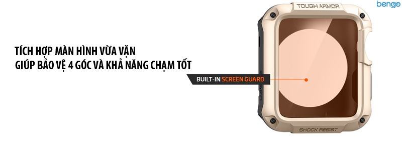 Ốp Apple Watch Series 3/2/1 42mm SPIGEN Tough Armor