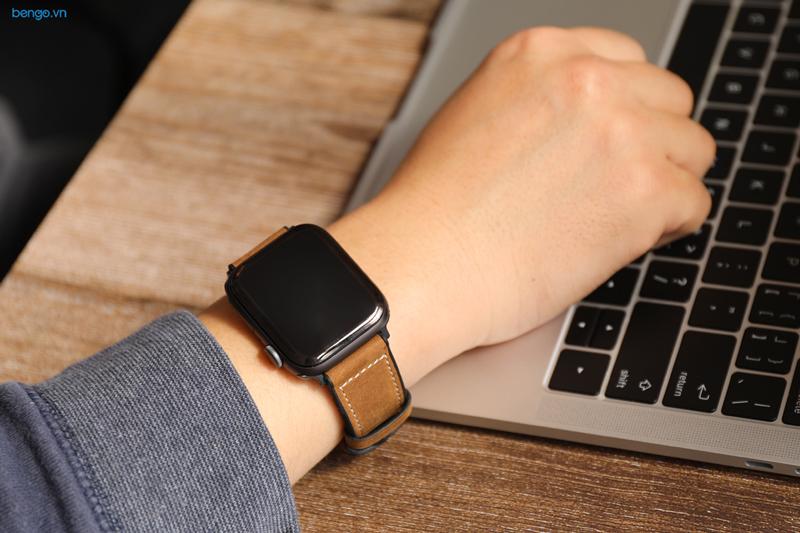 Dây đeo Apple Watch 42mm & 44mm JINYA Hero Leather