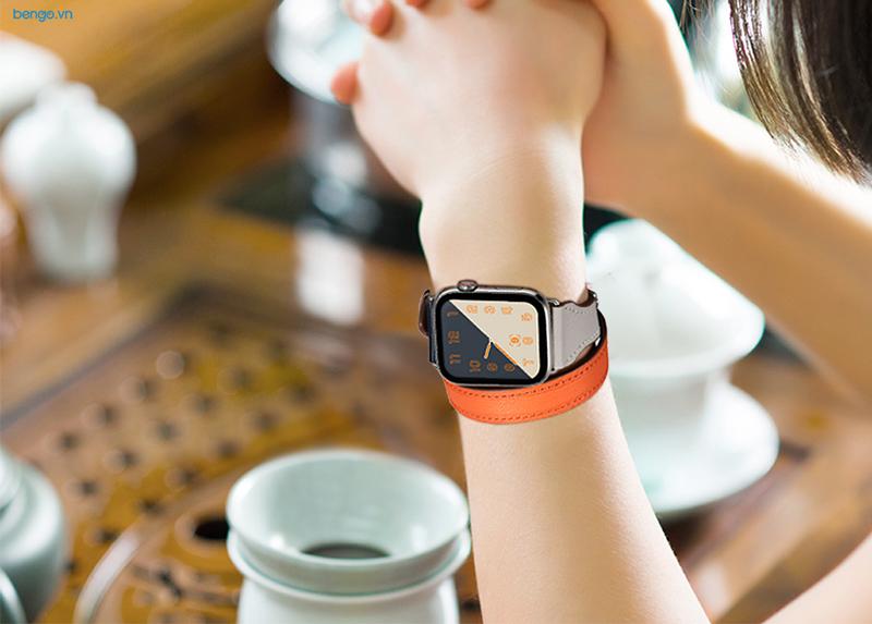 Dây đeo Apple Watch 42mm & 44mm JINYA Magical Leather