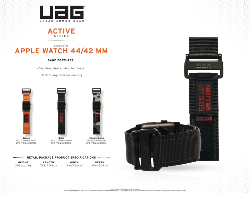 Dây đeo Apple Watch 42mm & 44mm UAG Active