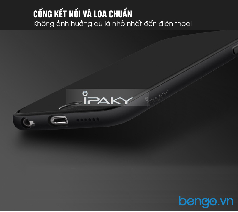 Ốp lưng iPhone 6 plus/6s plus IPAKY trong suốt viền nhựa dẻo