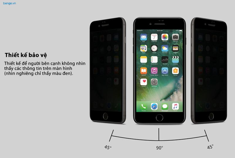 Dán cường lực iPhone 8/7 Plus MOCOLL chống nhìn trộm