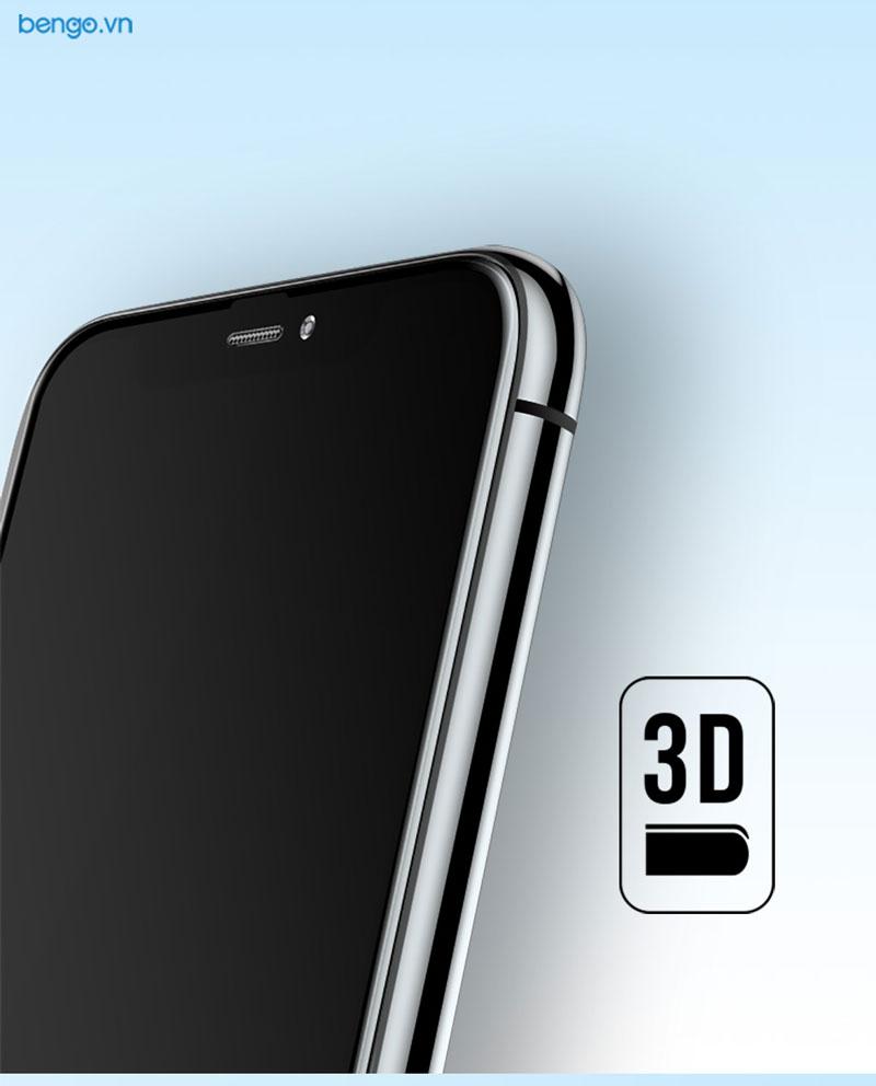 Kính cường lực iPhone Xs/X Full 3D MIPOW KING BULL chống nhìn trộm