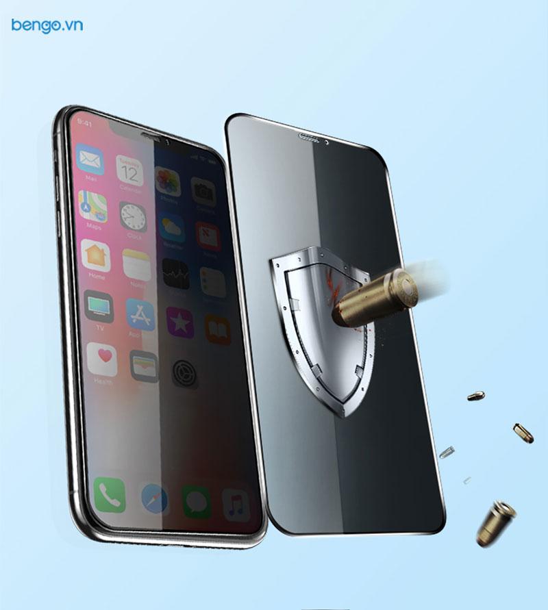 Kính cường lực iPhone XR Full HD (2.7D) MIPOW KING BULL chống nhìn trộm