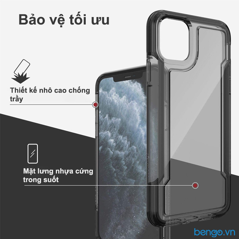 Ốp lưng iPhone 11 Pro Max X-Doria Defense Clear