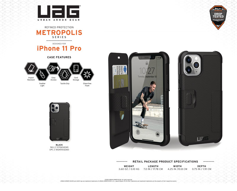 Bao da iPhone 11 Pro UAG Metropolis Series
