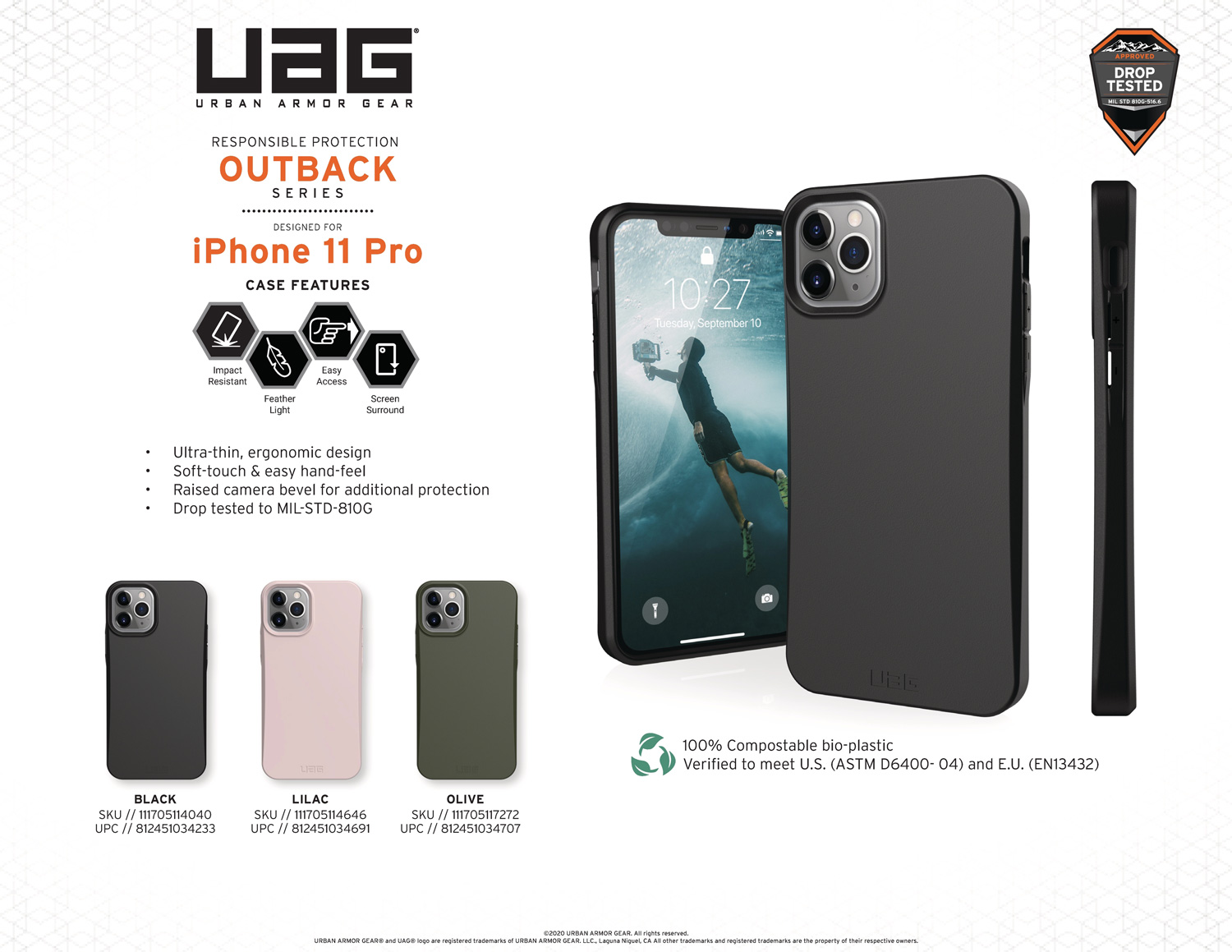 Ốp lưng iPhone 11 Pro UAG Biodegradable Outback